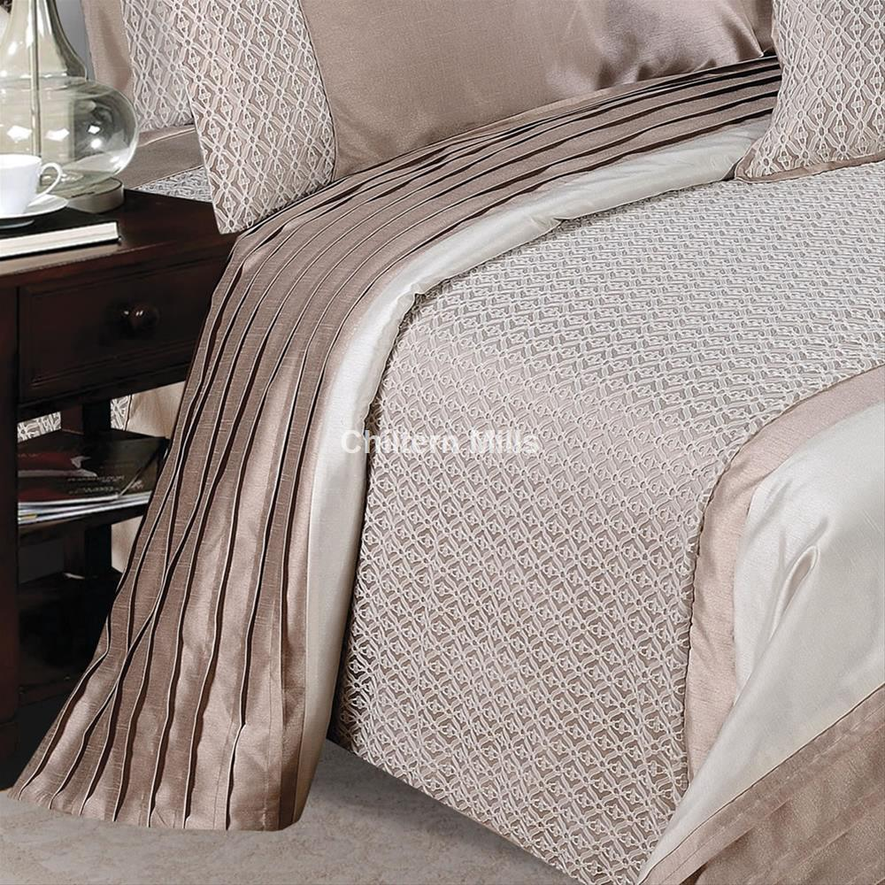 Silver Quilted Bedspread Chiltern Mills Curtains