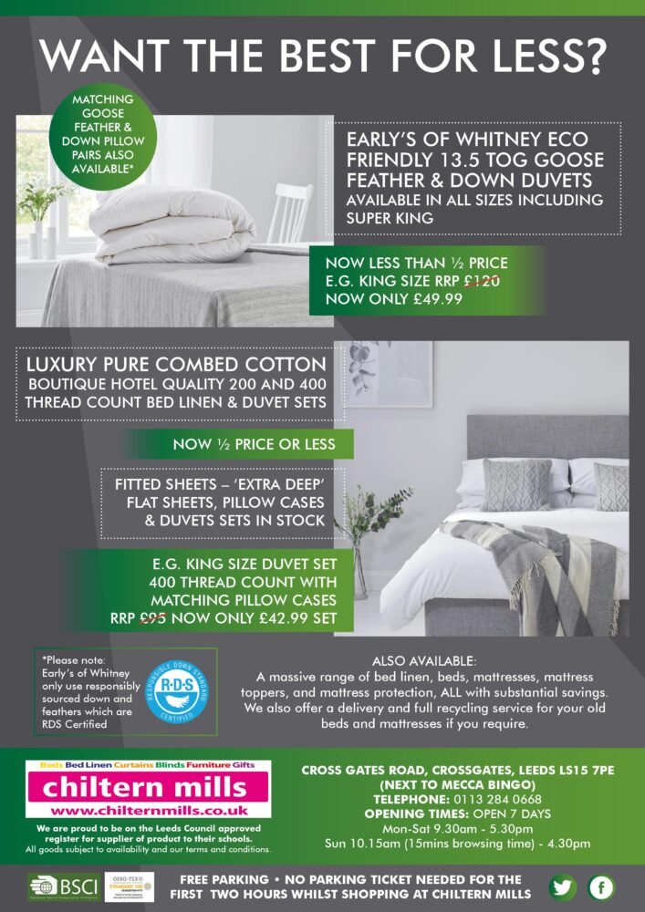 Chiltern Mills Discount Bedding Curtains Blinds Beds At Great Prices